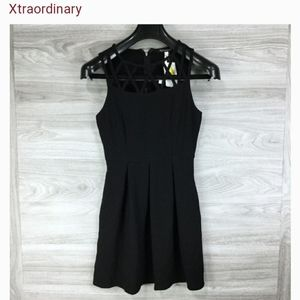 Xtraordinary Black Caged Front Dress